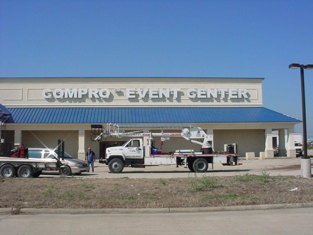 Compro Event Center - Channel Letter
