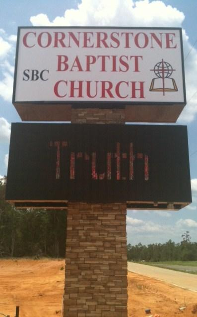 Cornerstone Baptist Church - I.D. Pole Sign & LED Digital Sign