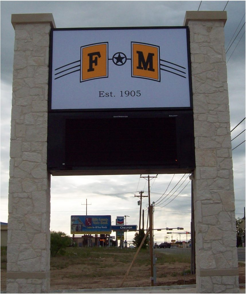 F&M Bank - I.D. Pole Sign & LED Digital Sign