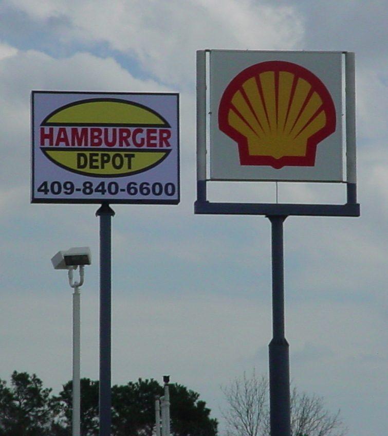Hamburger Depot - Shell - Pole Signs