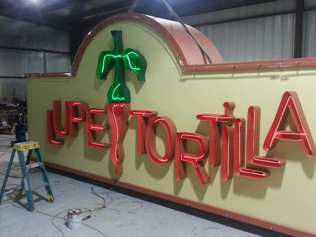 Lupe Tortilla - I.D. Pole Sign