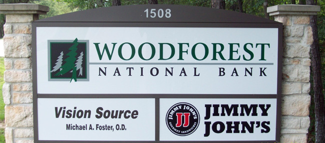 Woodforest National Bank - Monument Multi-Tenant Sign