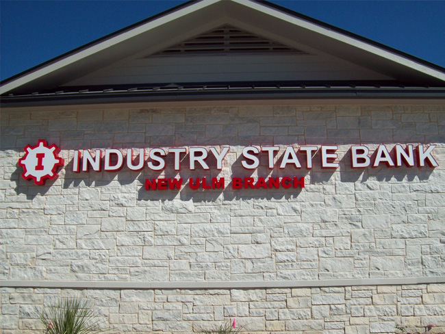 Industry State Bank - Channel Letter