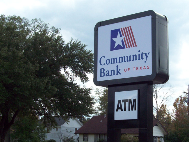 Community Bank of Texas - Pylon Sign
