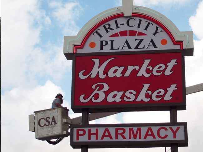 Market Basket - Pylon Sign