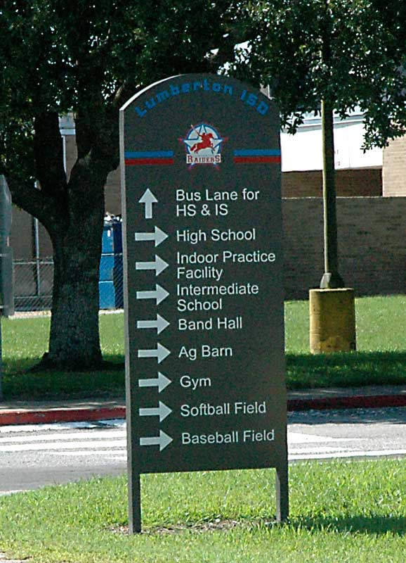 Lumberton High - Directional Wayfinder Sign