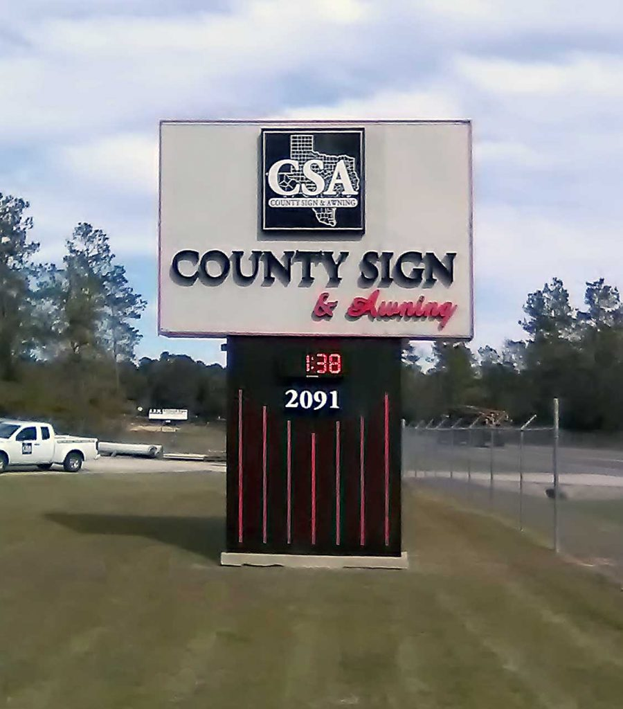 County Sign - Pole Sign